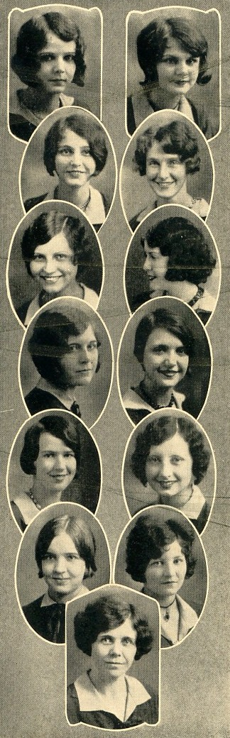 1929 Georgia State Womans College Freshmen Valdosta ...