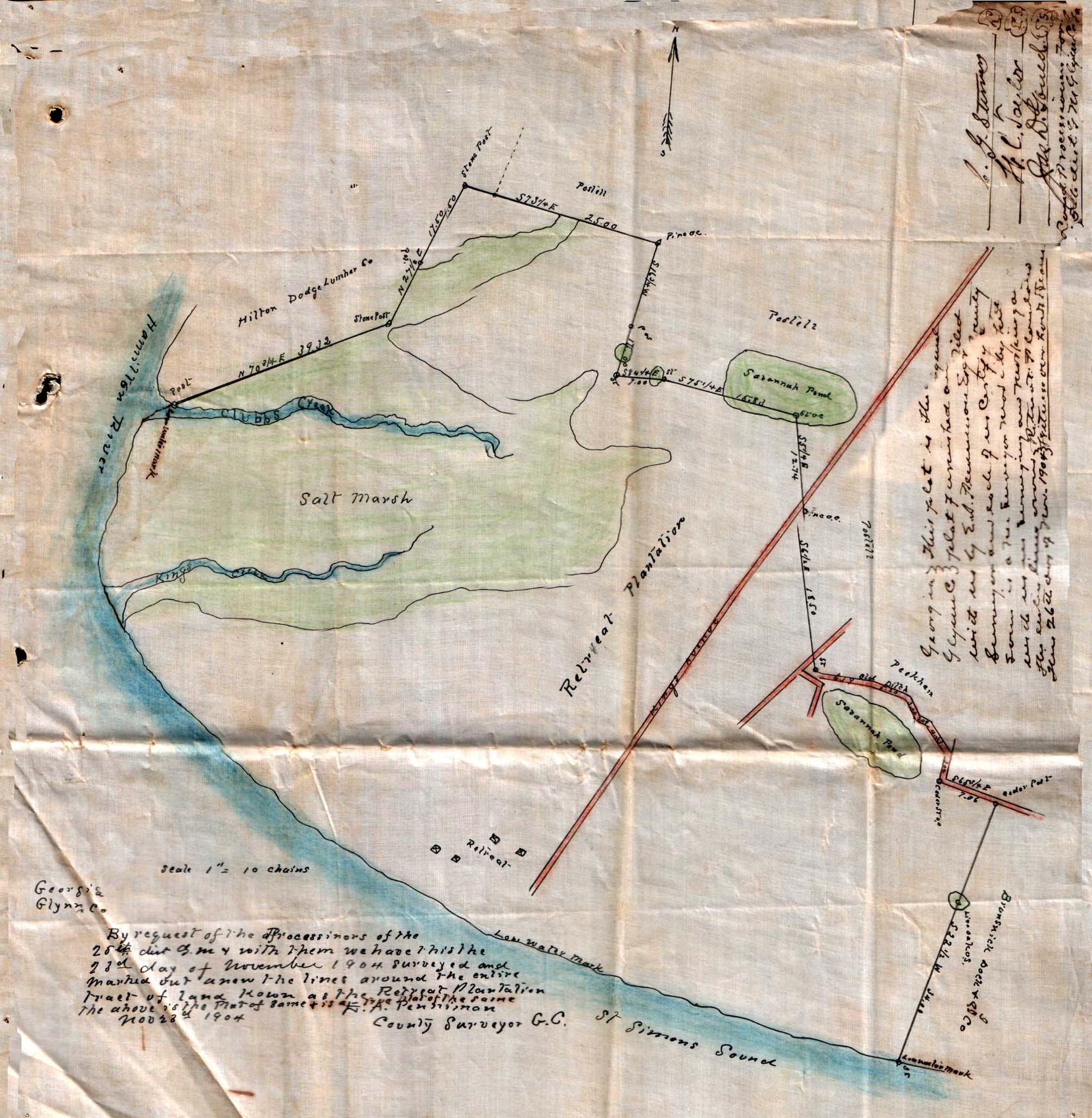 Map Of Georgia Plantations.Retreat Plantation King S Retreat St Simons Glynn Co Georgia