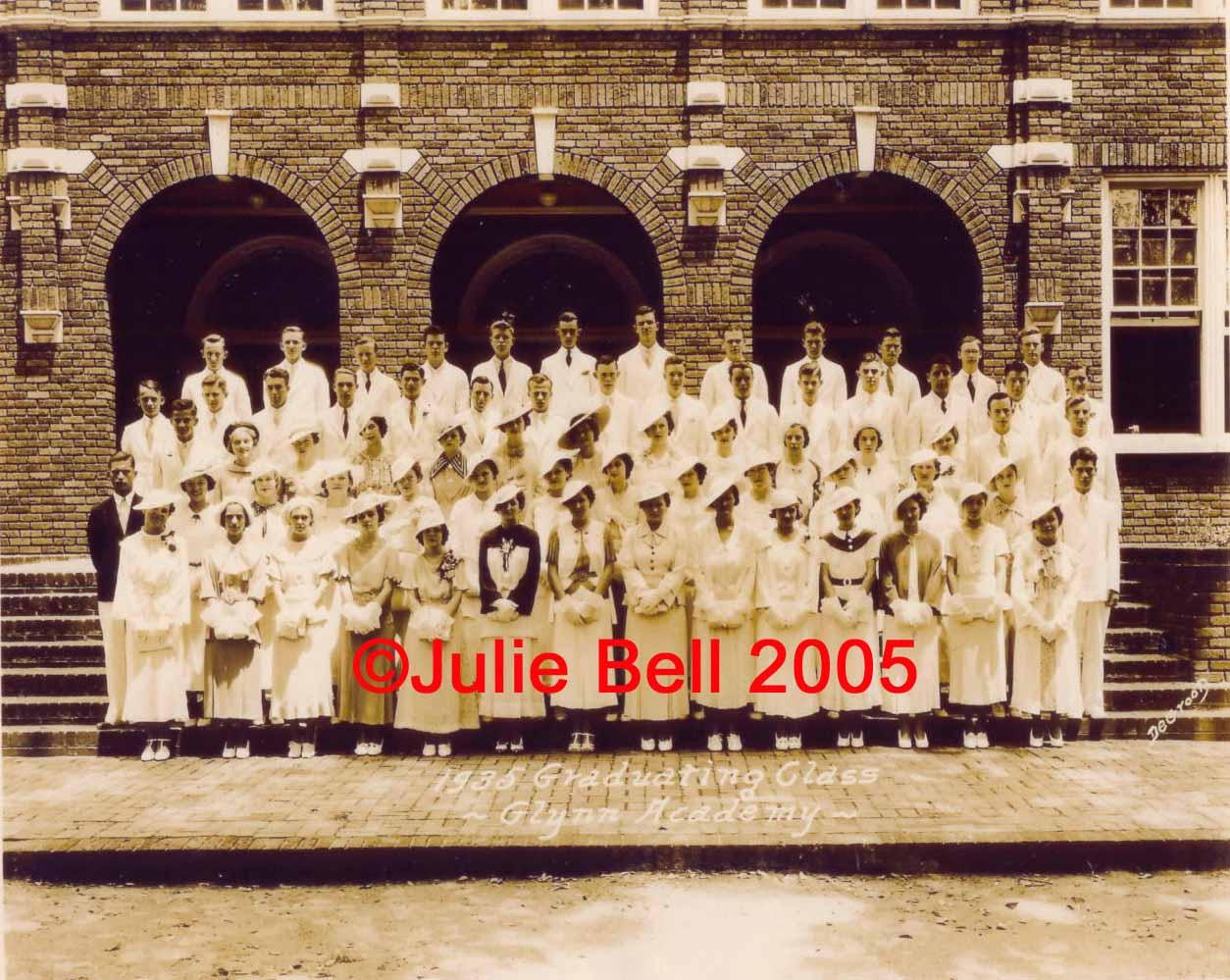 Glynn Academy 1935 Class Photo Glynn Co , Georgia